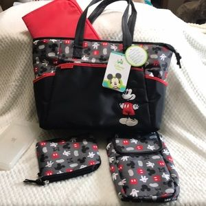 Disney Mickey Diaper Bag Set